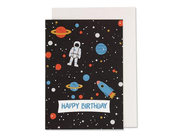 Ava & Yves Happy Birthday Card SPACE
