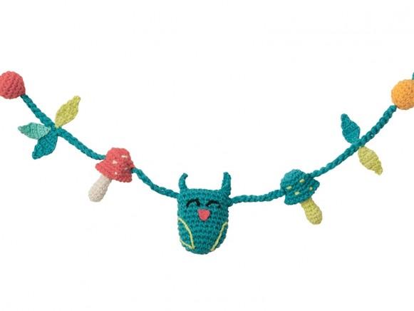 Babylonia crochet stroller chain FOREST