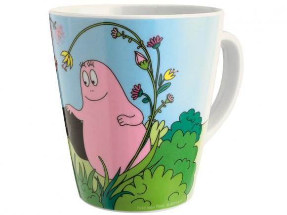 Mug with Barbapapa and plant by Petit Jour