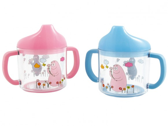 Kids acryl cup with muzzle with Barbapapa