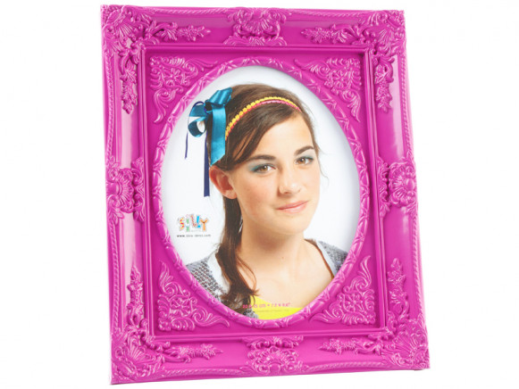 Large baroque photo frame in purple