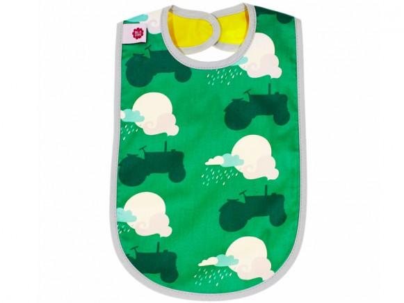 Blafre baby bib tractor green