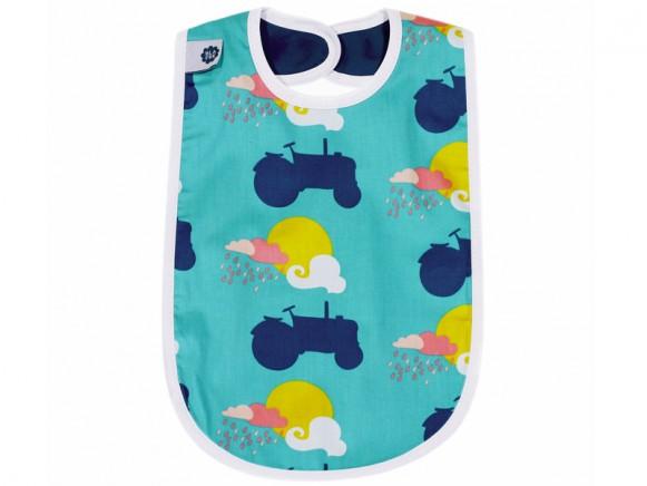 Blafre baby bib tractor blue