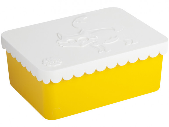 Blafre lunchbox fox yellow small