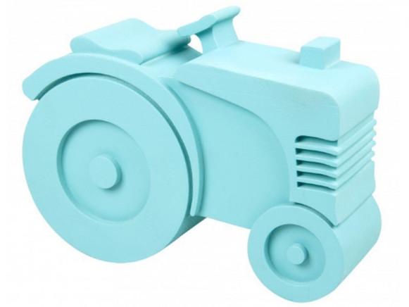 Blafre lunchbox tractor light blue