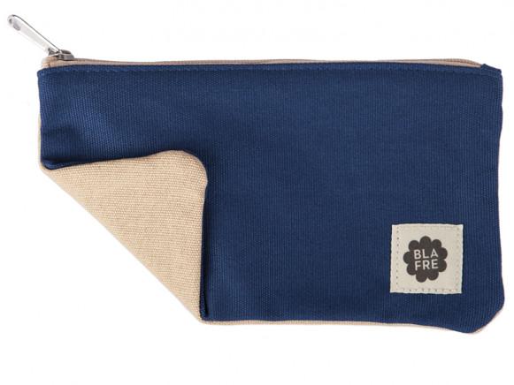 Blafre PENCIL CASE navy blue / beige