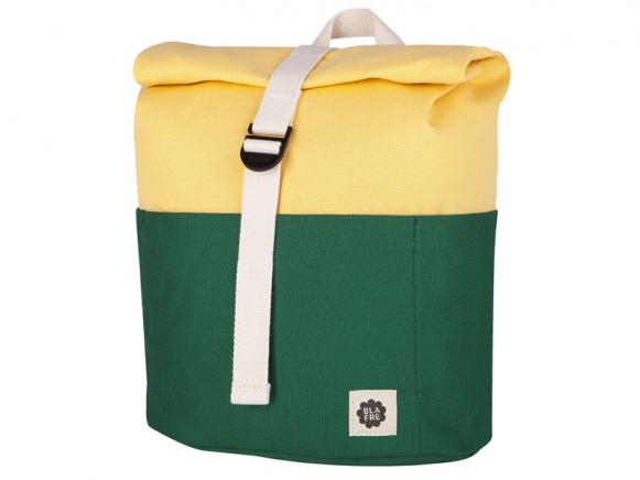 Blafre Backpack ROLLTOP dark green / light yellow 3-7 years