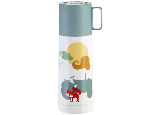 Blafre thermos tractor blue