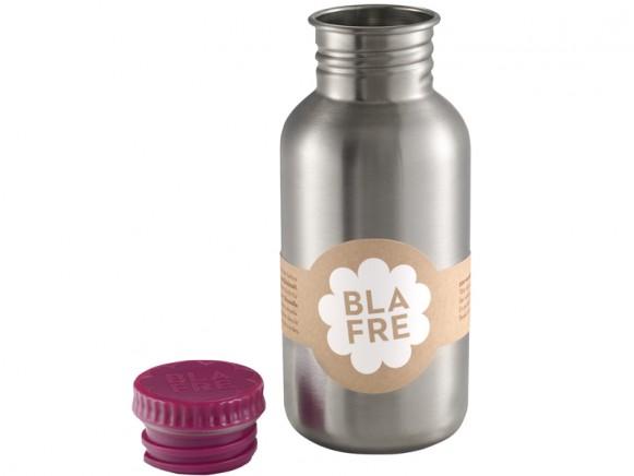 Blafre steel bottle plum red