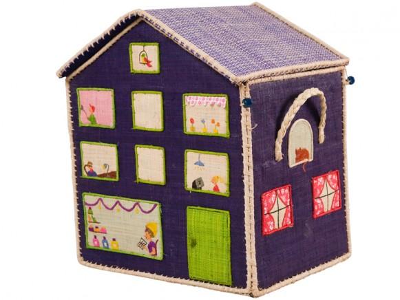 Großer Spielzeugkorb in Hochhausform von RICE Dänemark