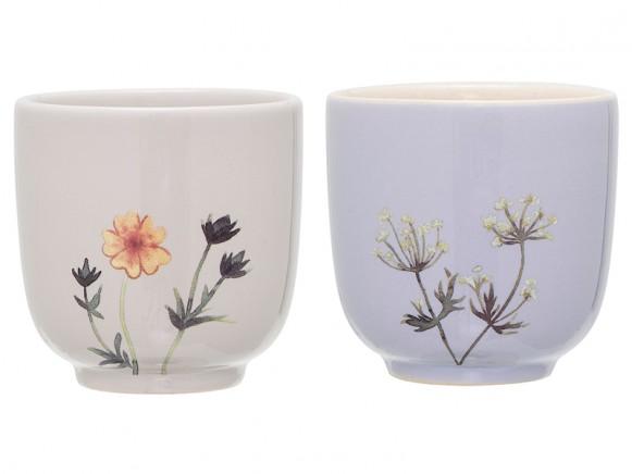 Bloomingville Ceramic Cups Flora