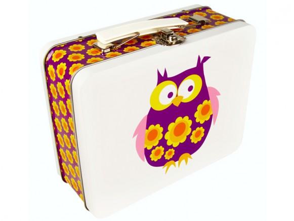 Blafre metal lunchbox owl