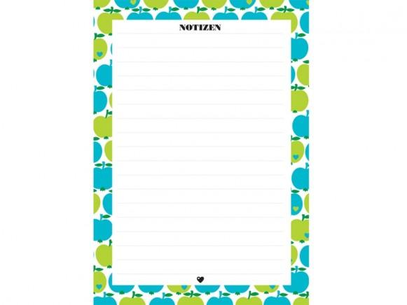 byGraziela notepad A5 APPLES GREEN-BLUE
