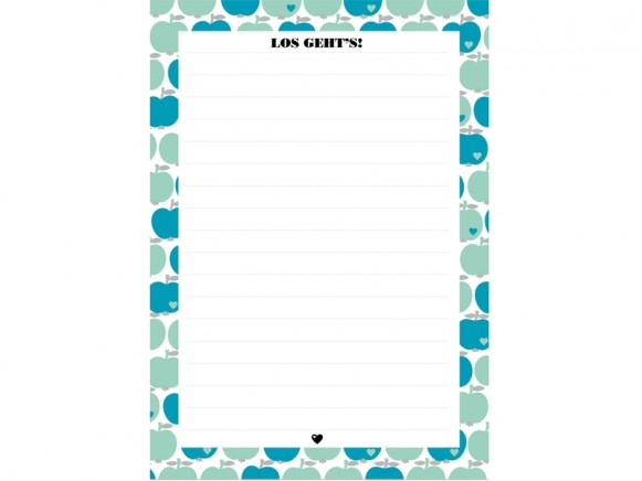 byGraziela notepad A5 APPLES MINT