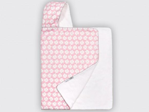 byGraziela hooded towel lucky clover pink