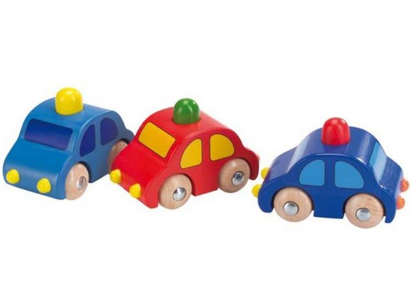 Wooden toy car with horn by cause