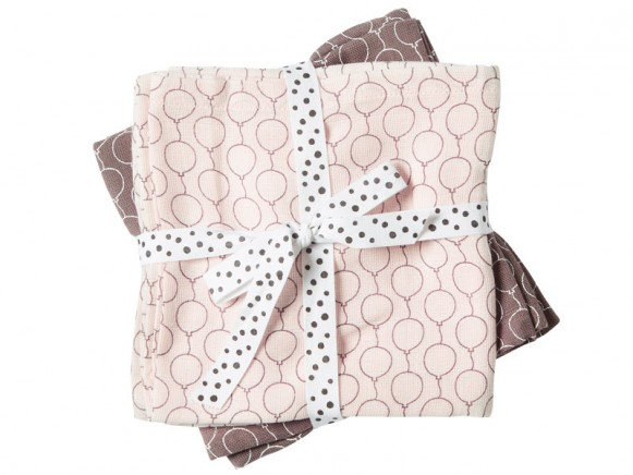 Done by Deer Burp Cloth 2-pack Balloons powder