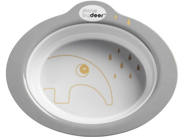 Done by Deer Anti-slip bowl Contour grey/gold