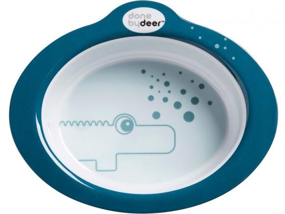 Done by Deer Anti-slip bowl Contour petrol