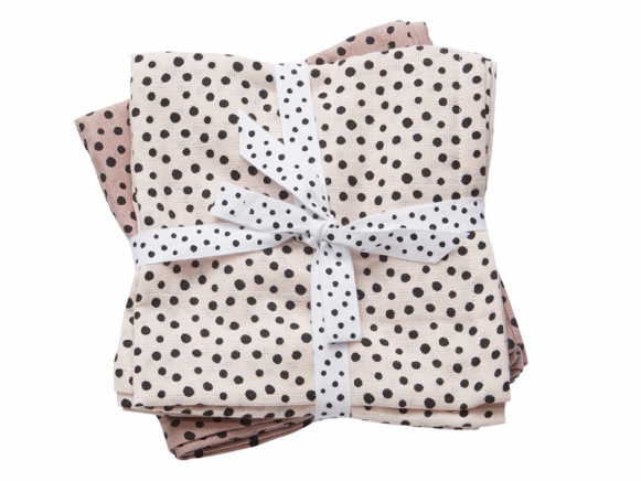 Done by Deer burp and swaddle cloth 2-pack Happy dots powder