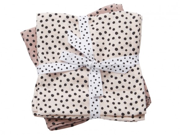 Done by Deer burp cloth 2-pack Happy Dots powder
