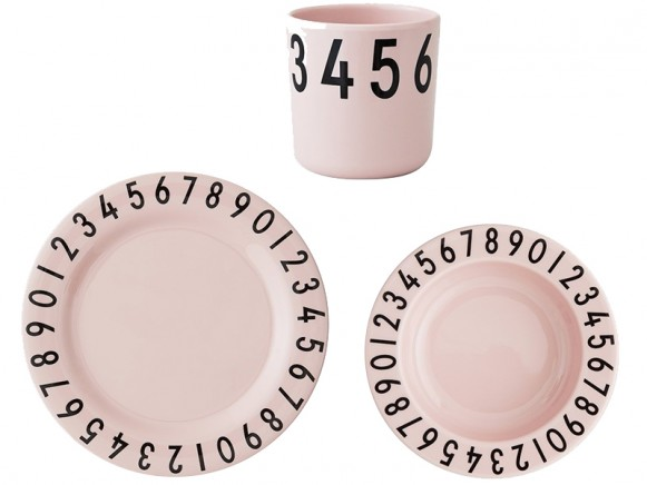 DESIGN LETTERS melamine tableware giftbox pink