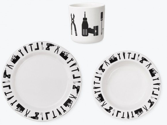 DESIGN LETTERS melamine tableware set TOOL SCHOOL
