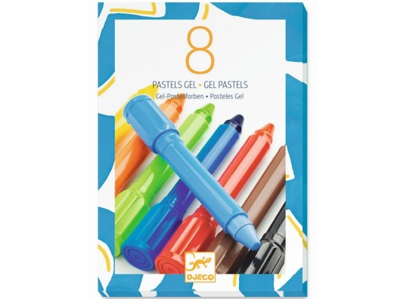 Djeco 8 Gel Pastels CLASSIC COLOURS