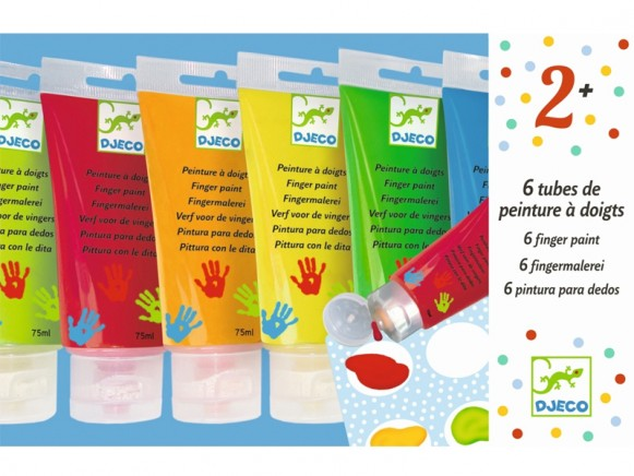 Djeco 6 Finger Paint Tubes