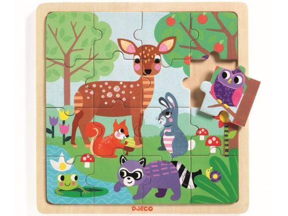 Djeco Wooden Puzzle FOREST ANIMALS