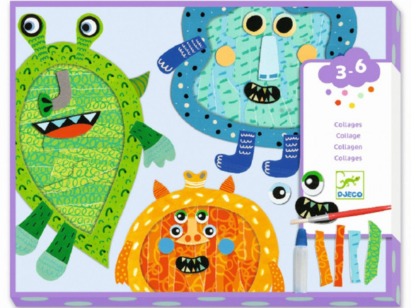 Djeco 3-6 Collage Tear & Glue MONSTERS