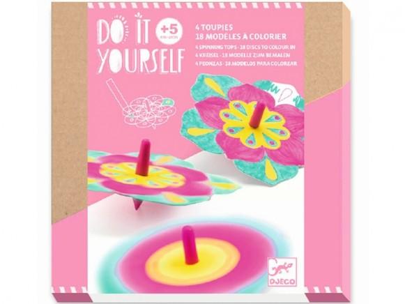 Djeco DIY Spinners FLOWERS
