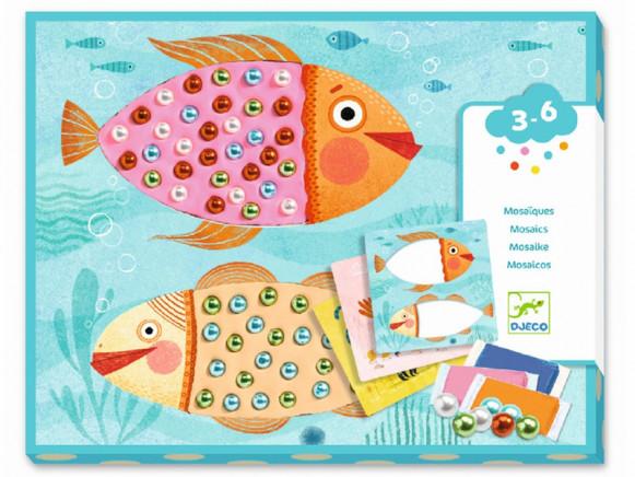 Djeco 3-6 Design Mosaic Beads ANIMALS