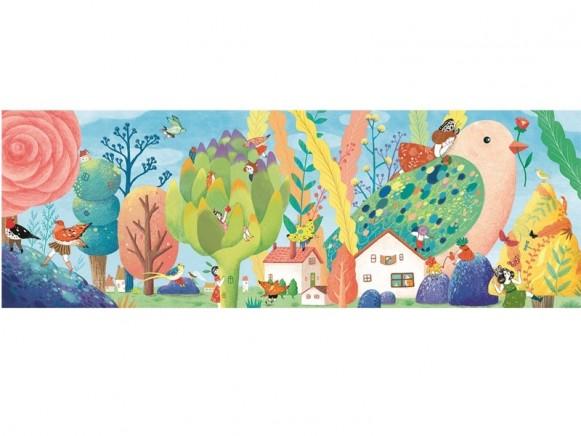 Djeco Puzzle MISS BIRDY (350 Pcs)