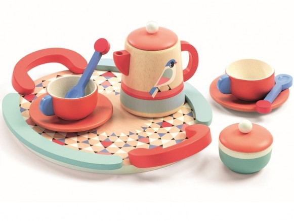 Djeco Play Kitchen Tea Set TEATIME