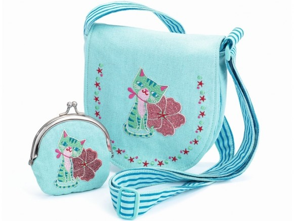 Djeco Handbag and Wallet CAT AND FLOWER