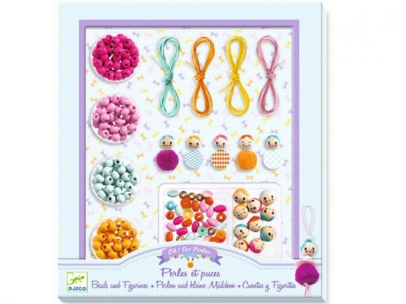 Djeco Kids Jewellery Kit BEADS & LITTLE GIRLS