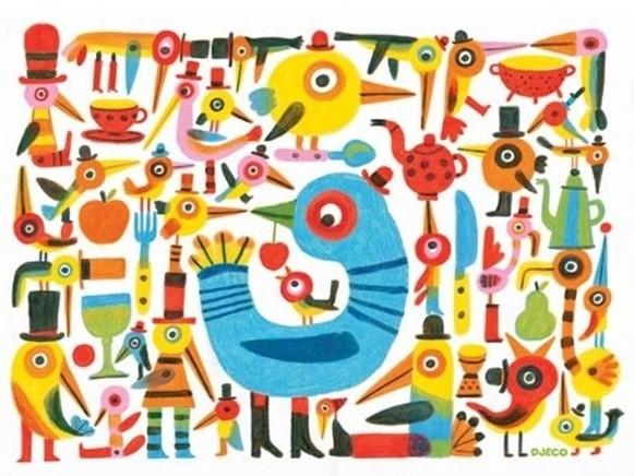 Djeco placemat Little Sparrow