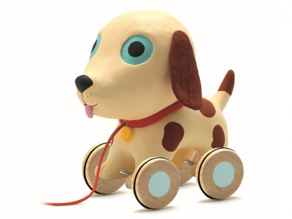 Djeco pull along toy dog Theo