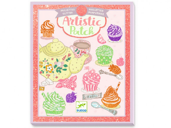 Djeco Artistic Patch TEA TIME Glitter Collage