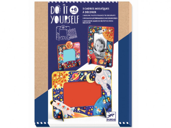 Djeco DIY Mosaic Picture Frames SPACE