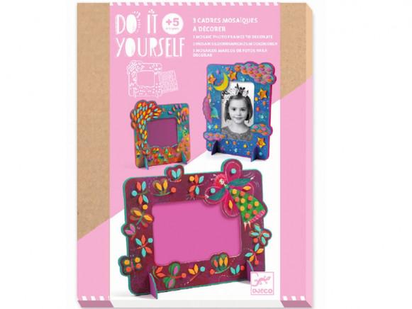Djeco DIY Mosaic Picture Frames FAIRIES