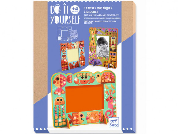 Djeco DIY Mosaic Picture Frames ANIMALS