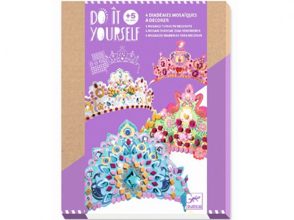 Djeco DIY Mosaic Picture Tiaras PRINCESS