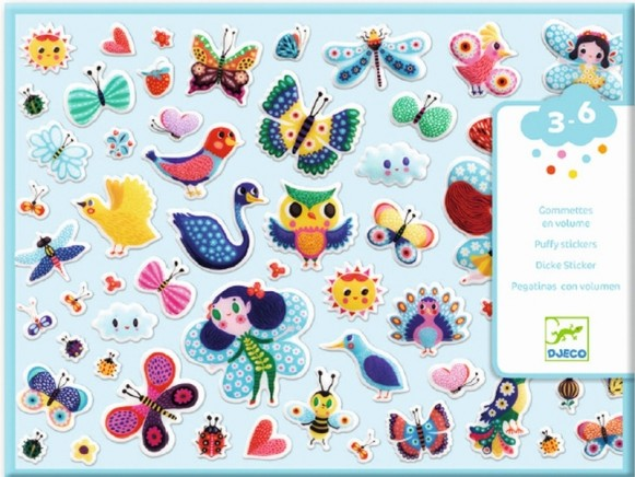 Djeco Puffy Stickers WINGED FRIENDS