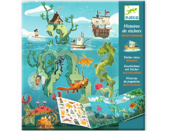 Djeco Sticker Stories SEA ADVENTURES