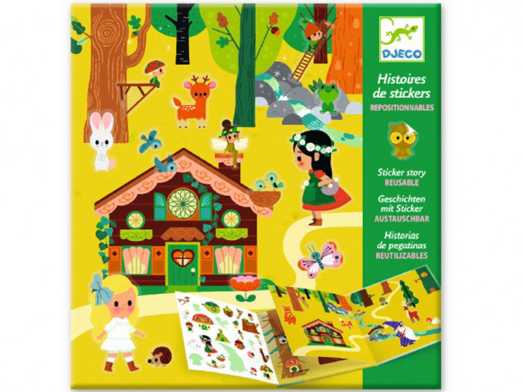 Djeco Sticker Stories MAGICAL FOREST