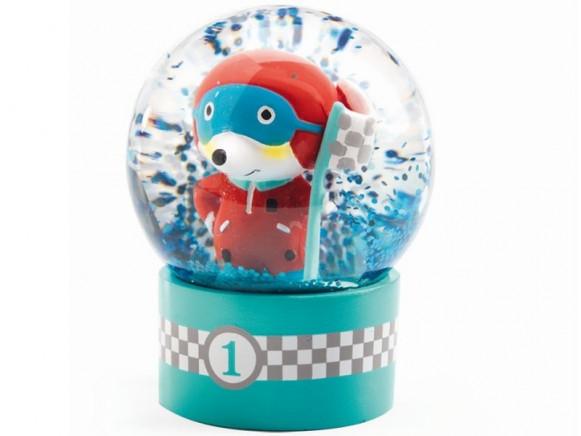 Djeco Mini Snow Globe RACE DRIVER