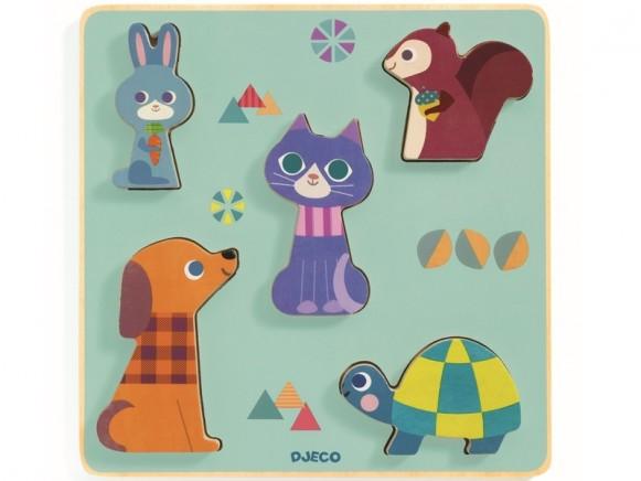 Djeco Relief Puzzle ANIMALS