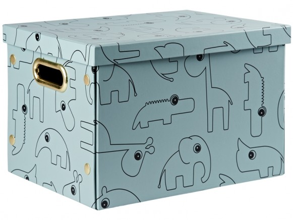 Done by Deer Foldable storage box CONTOUR blue